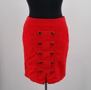 Anthropologie Odille Red Skirt Size 4